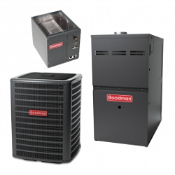 Goodman 16 SEER 4 Ton Two-Stage Gas System